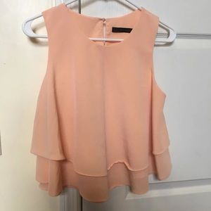 Peach Zara Top